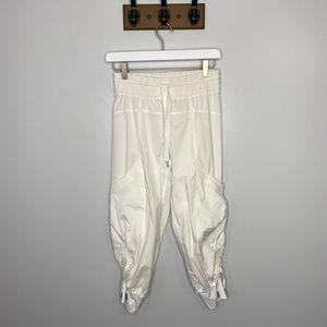 Lululemon White Studio Crop Athletic Pants